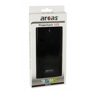 Arcas Portable Powerbank V25 8000 mAh - Zwart