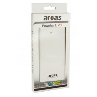 Meer informatie over Arcas Portable Powerbank V31  12000 mAh - Wit