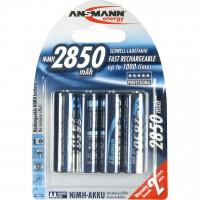 Meer informatie over Ansmann oplaadbare batterijen NH06 (AA) 2850 mAh - 4 stuks