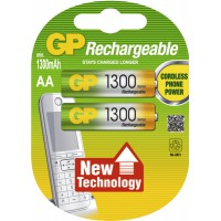 Meer informatie over GP oplaadbare batterijen NH06 (AA) 1300 mAh - 2 stuks